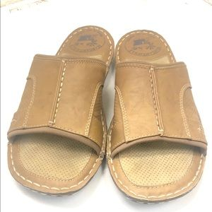 Margaritaville sz 9 leather sandals